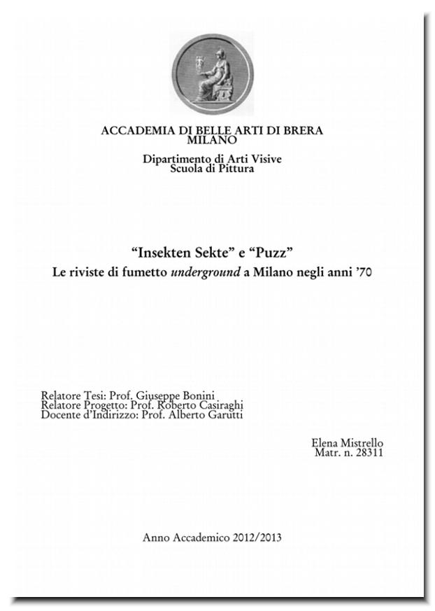 Fanzinoteca d 39 italia articoli progetti in corso for Accademia di design milano