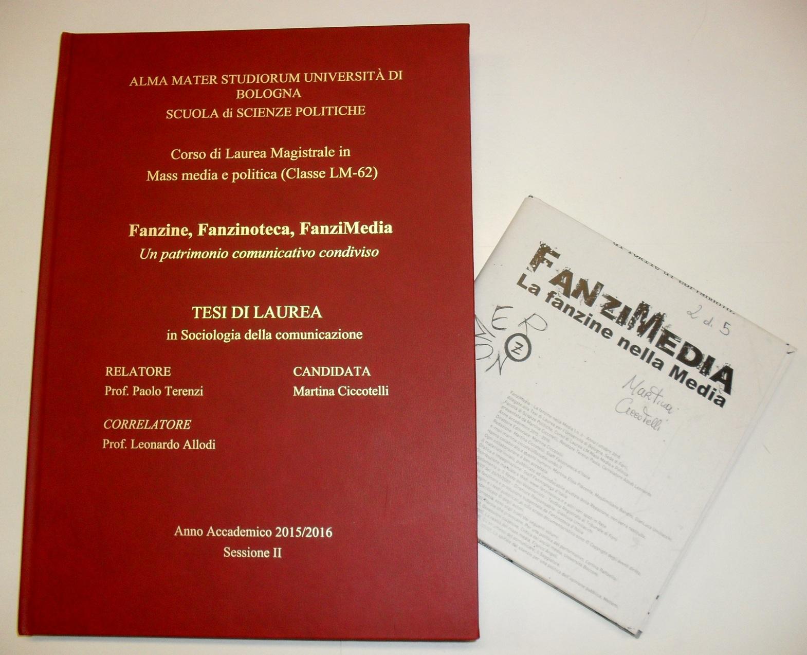 Ben noto Fanzinoteca d'Italia - Articoli :: Progetti in corso :: Mappa Tesi  IF47